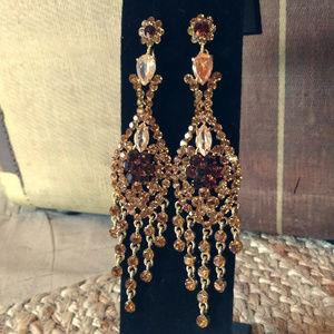 Jewelry - Stunning Rhinestone Chandelier Earrings